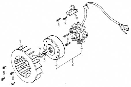 Generator (Adly GK-125 2009)