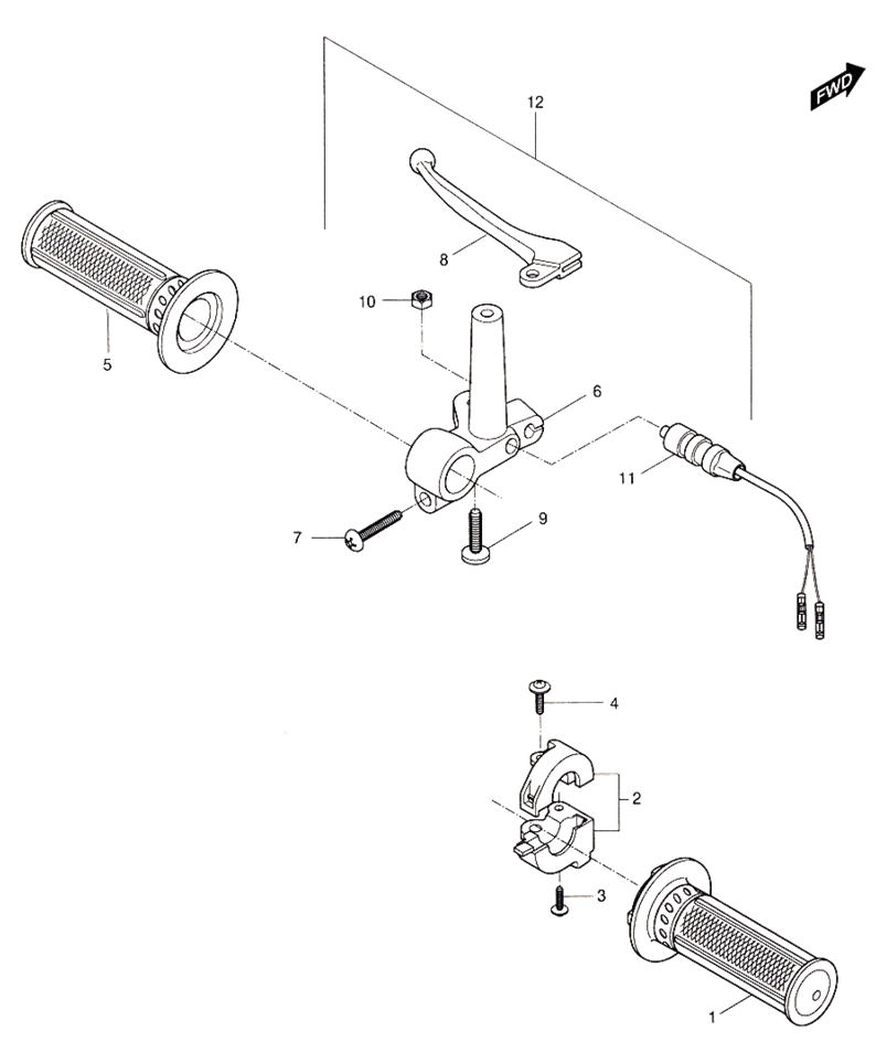 Handle Lever (Hyosung Sense SD-50 Scooter)