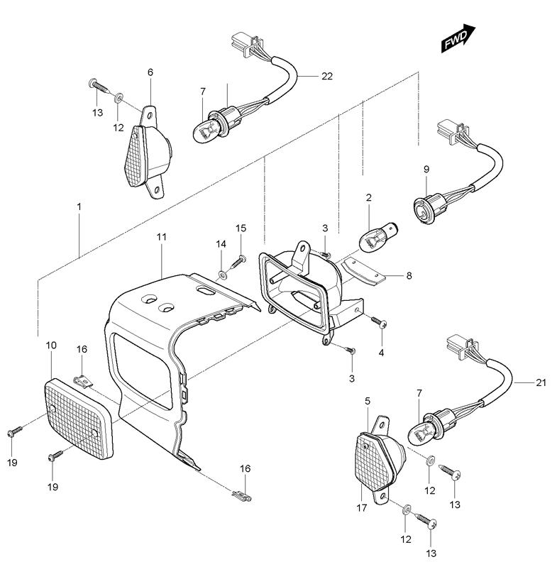 Rear Combination Lamp (Hyosung Sense SD-50 Scooter)