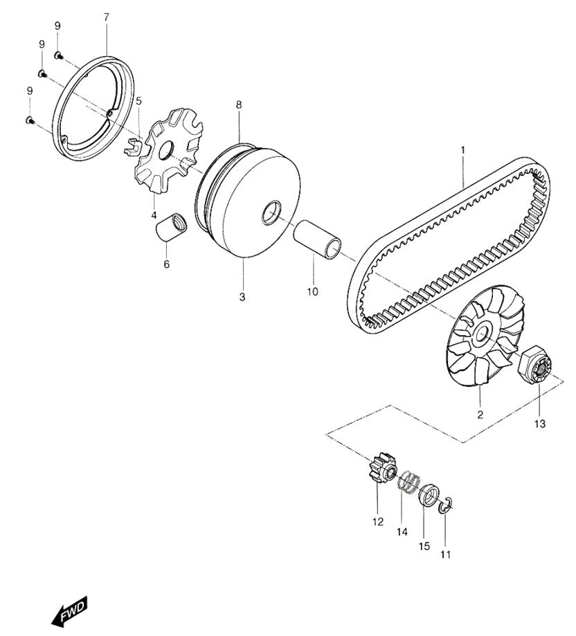 Transmission (Hyosung Sense SD-50 Scooter)
