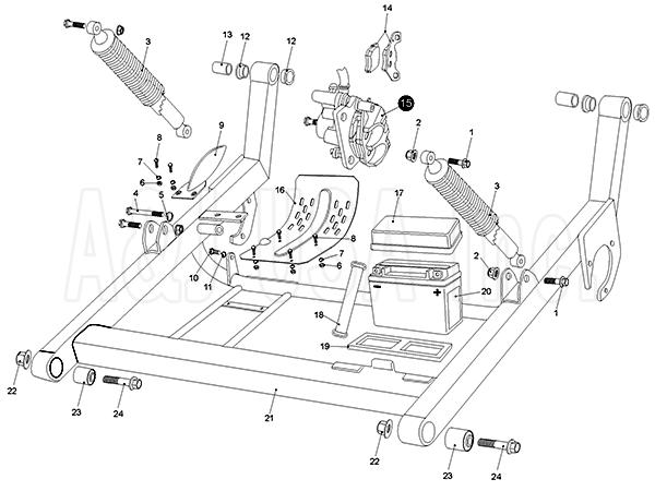 Rear Swing Arm (Kasea LM150IIR 2003)
