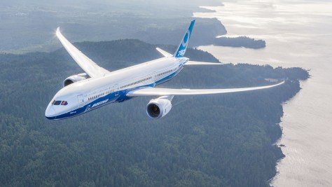 787 in flight