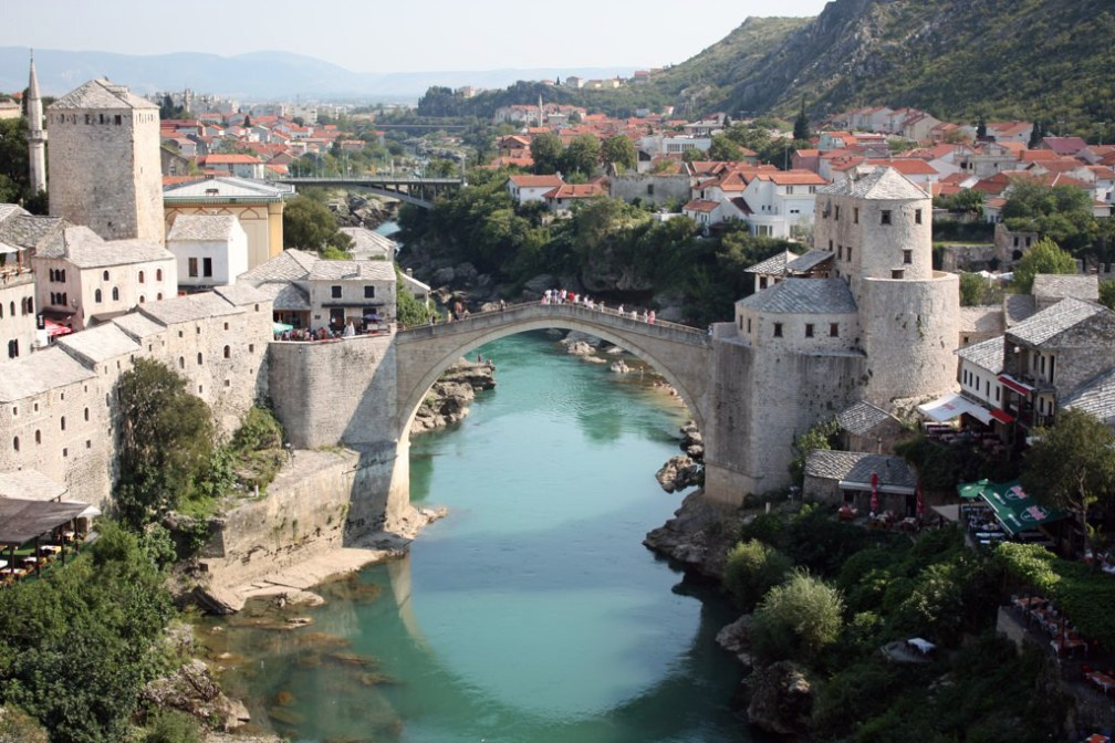 Connecting a divided region: Old Bridge in Mostar, Bosnia and Herzegovina