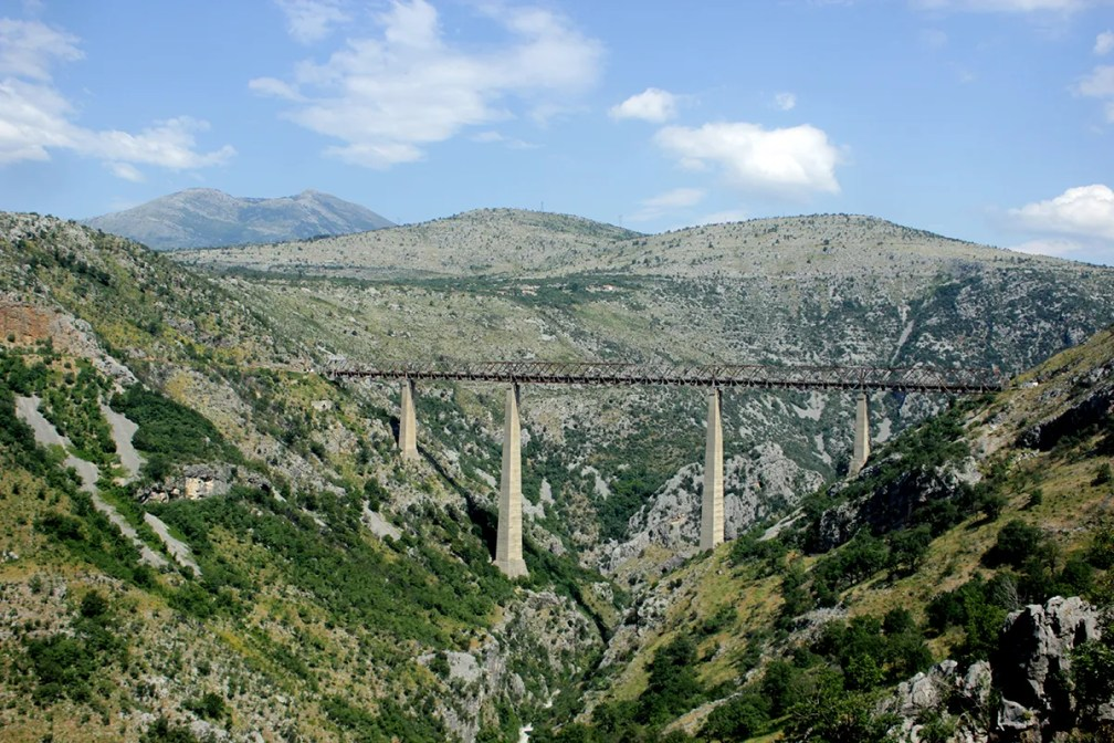 Tallest railway viaduct on Earth: Mala Rijeka Viaduct, Montenegro