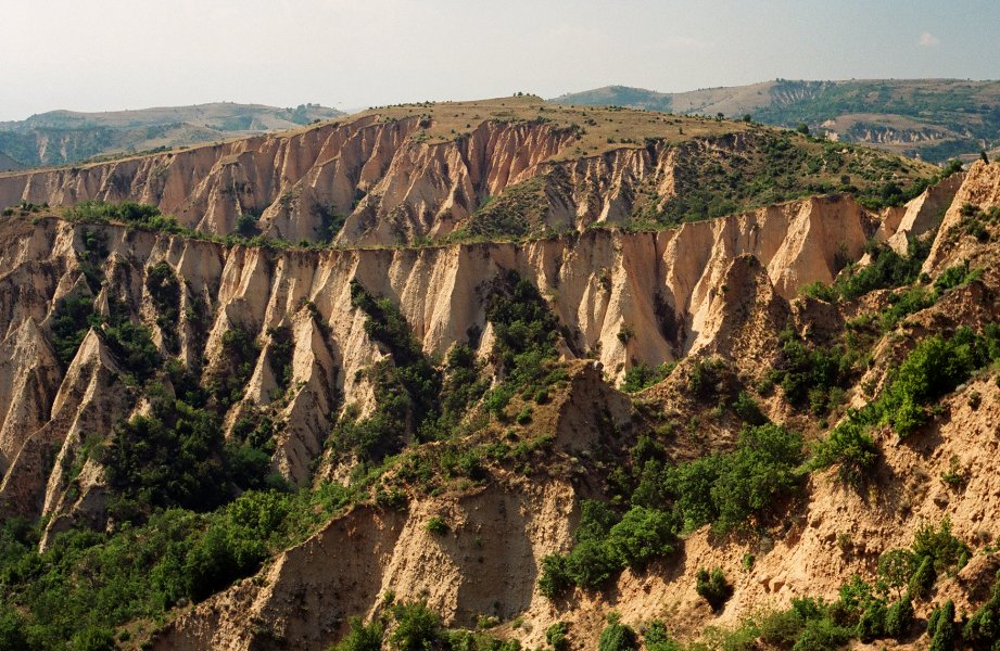 Badlands of erosion: the Melnik Pyramids