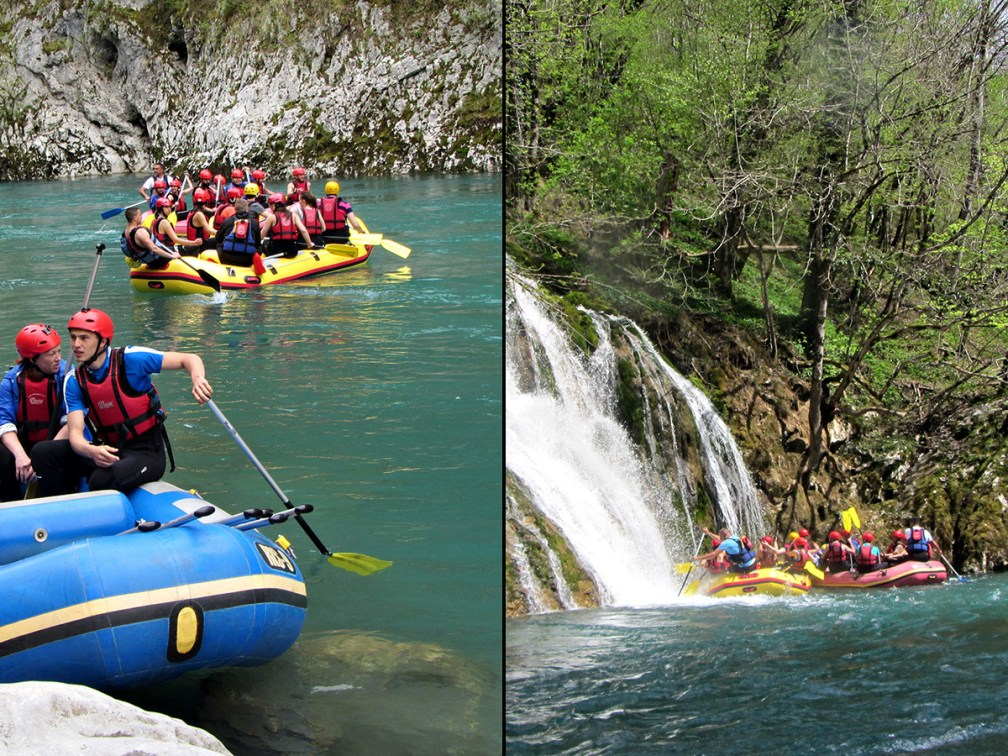 Take on the rapids in Europe's deepest canyon: Rafting on the Tara River