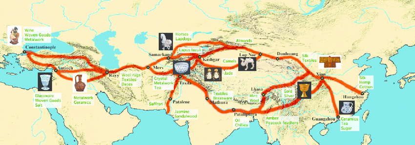 Map of Silk Route