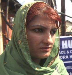 """Our future has been made dark,"" Shabana, in picture, says. Pic: Bilal Bahadur"