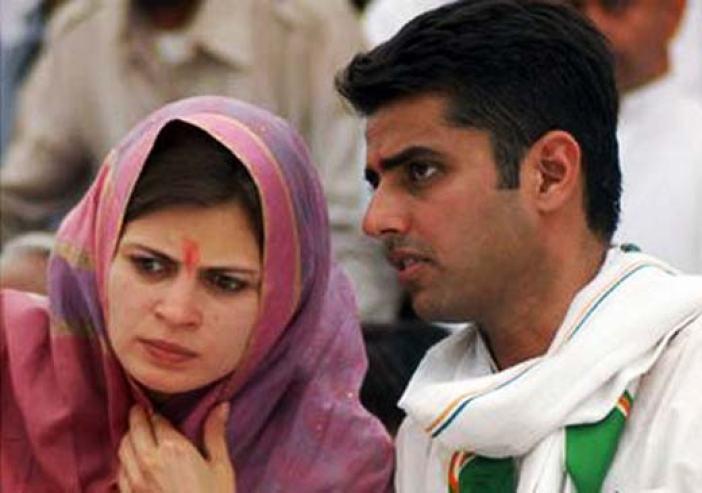 Sachin Pilot with his wife Sara.