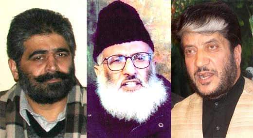 From L to R: Nayeem Khan, Azam Inquilabi and Shabir Shah.