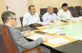 Omar Obdullah  chairing a top level meeting.