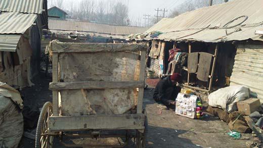 A scene inside a slum. Pics  by Reporters
