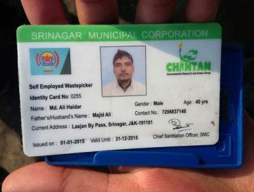 These i-cards are provided by SMC in collaboration with Chintan, a New Delhi based NGO.