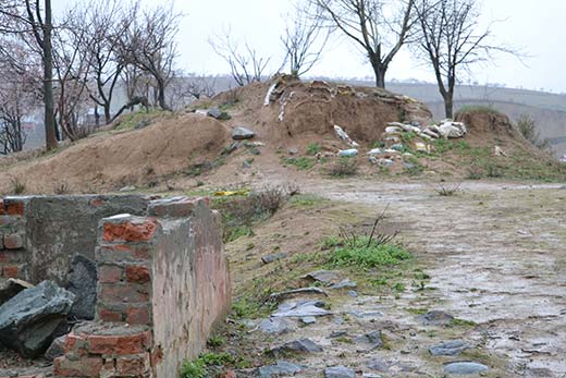 Remains of dreaded Hanwari camp in Charar-i-Sharief