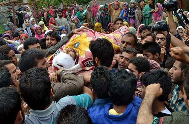 Funeral of of Aijaz Ahmad Reshi
