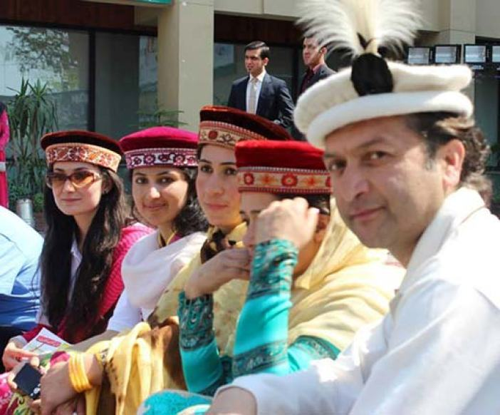 Gilgit Baltistan elite posing for a picture.