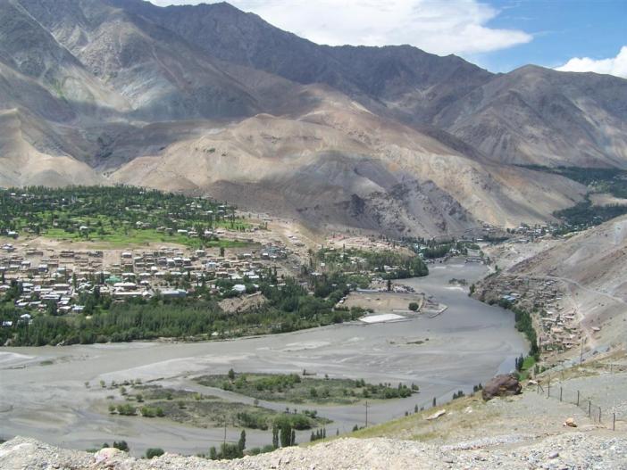 Aerila view of Kargil.