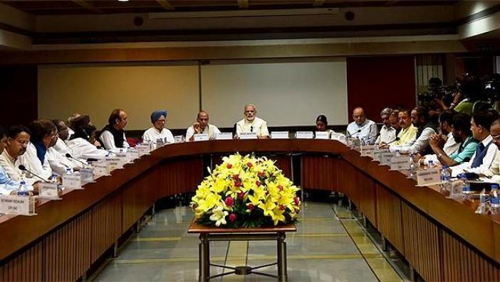 All party meeting held in New Delhi on August 12, 2016.