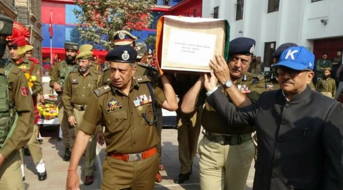 Wreath Laying Ceremony Held at District Police Lines {DPL} Srinagar