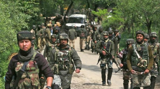 Another Encounter Started Between Militants And Government Forces in Sopore Forests