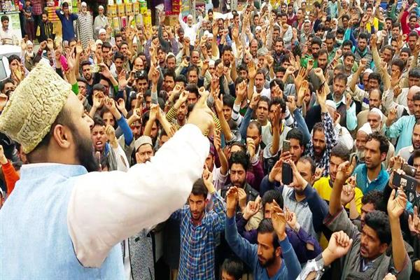 Image result for Qazi Yasir Leads Protest Rally In Shopian, Shutdown In Islamabad, Kulgam Continue Today