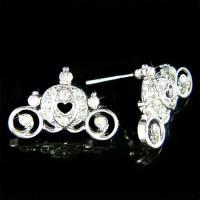 w Swarovski Crystal ~Cinderella Pumpkin Carriage~ Pendant