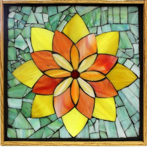 Kasia Mosaics Classes Template Flower Design #2