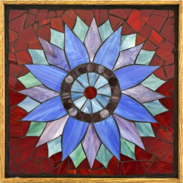 Sunflower Stained Glass Mosaic