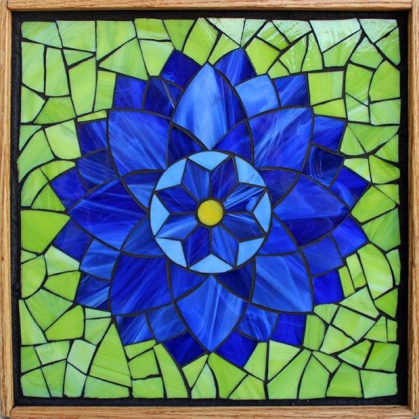 Kasia Mosaics Classes Template Flower Design #8