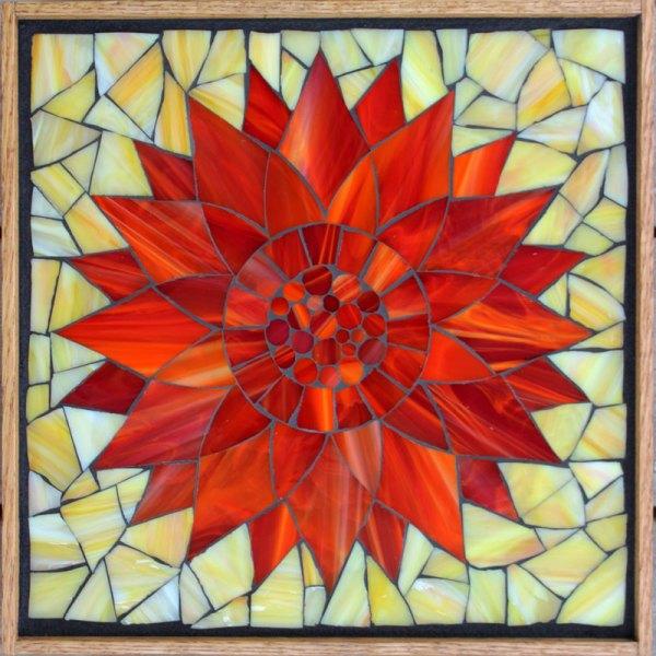 Kasia Mosaics Classes Flower Template #10