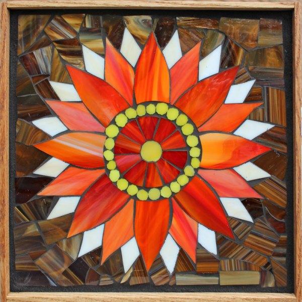 Kasia Mosaics Classes Template Flower Design #1