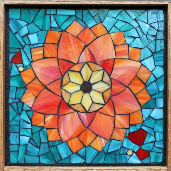 Stained Glass Mosaic Flowers