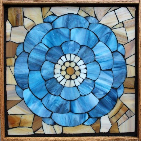 Kasia Mosaics Classes Template Flower Design #4