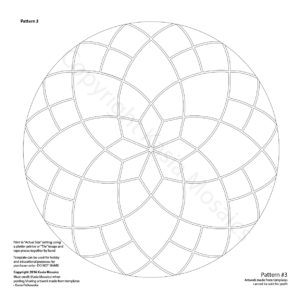 Kasia Mosaics Classes » Template Download: Mandala Design #2