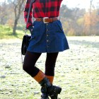 hat buffalo plaid red black brown rustic ootd whatiwore2day