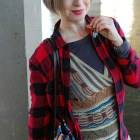 buffalo plaid flannel shirt pattern mix ootd whatiwore2day