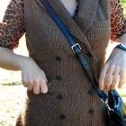 ootd whatiwore2day tweed coat dress leopard