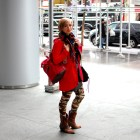raincoat camo leggings western boots new york city ootd whatiwore2day style tourist