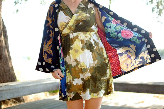 kimono pattern print mix ootd daily outfit blot whatiwore2day