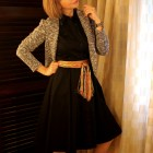 scarf belt knit blazer daily outfit blog ootd whatiwore2day