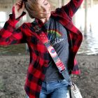 buffalo plaid flannel shirt daily outfit blog ootd whatiwore2day
