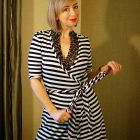 leopard stripe wrap dress pattern mix daily outfit blog ootd whatiwore2day