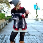 plaid stripes pattern mix daily outfit blog whatiwore2day ootd