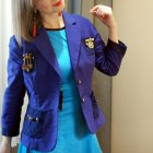 navy turquoise business casual ootd daily outfit blog whatiwore2day