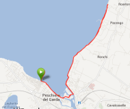 12 kilometer langs Gardasøen