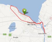 10 kilometer langs Gardasøen
