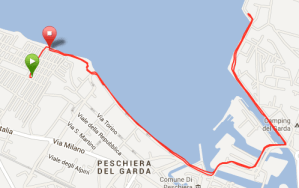 5 kilometer interval langs Gardasøen