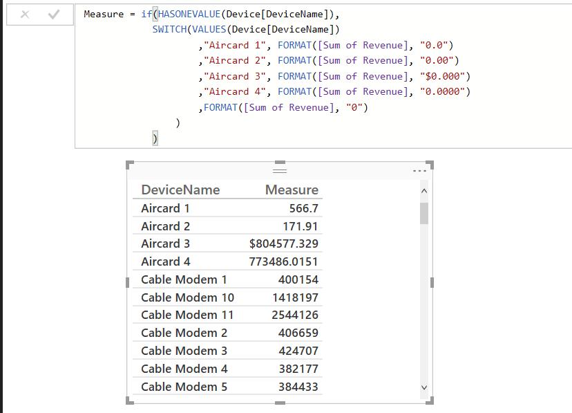 dynamic format using dax kasper on bi