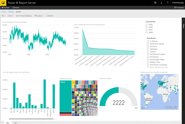 Embedding Power BI Reports with Power BI Report Server