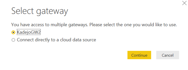 Use the data gateway to connect to SQL Azure databases